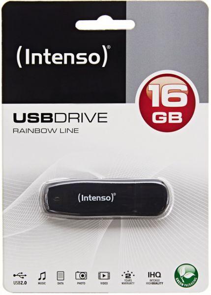Intenso USB 2.0 Stick 16GB Rainbow Line in Schwarz