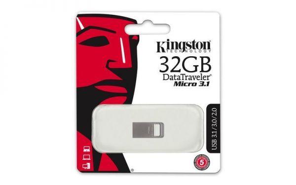 Kingston 32GB DataTraveler Micro USB 3.1 / 3.0 / 2.0 Speicher Stick DTMC3