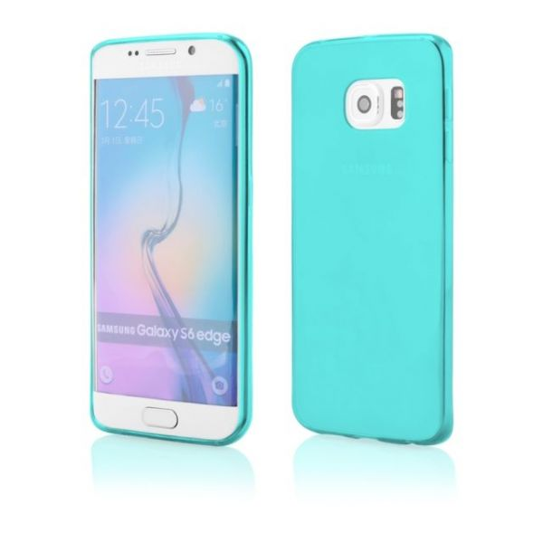 AS Samsung S6 / G9200 Silikon Hülle Schale Cover Tasche Case Handy Schutz TPU - Blau