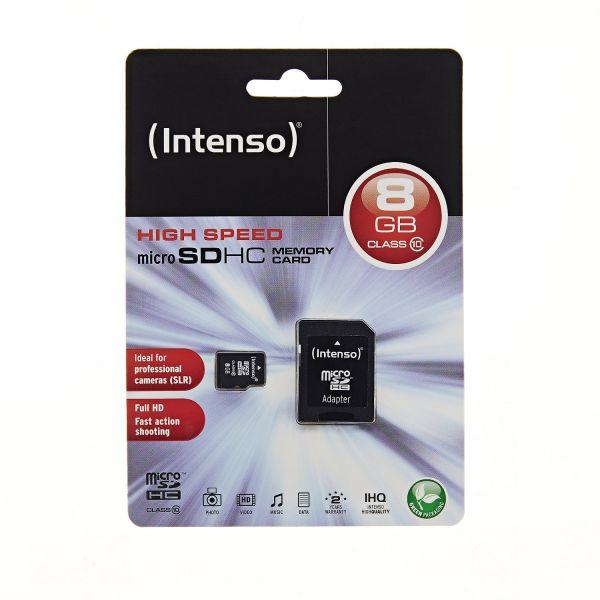 Intenso Micro SDHC Class 10 Speicherkarte inkl. SD-Adapter