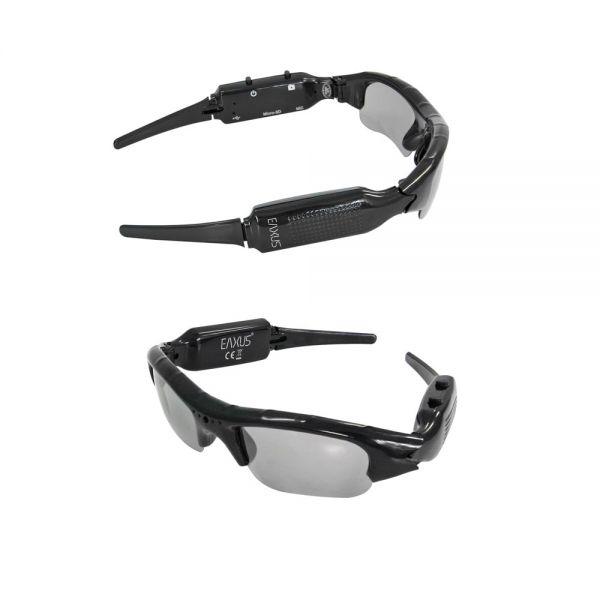 Kamerabrille v. EAXUS Action Videoglasses Spionbrille microSD TF Karte USB Video Aufnahme