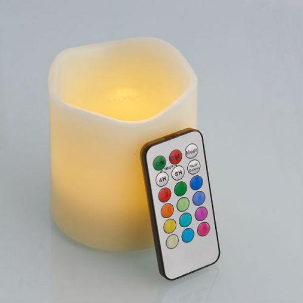 LED Kerze mit Fernbedienung - mittel