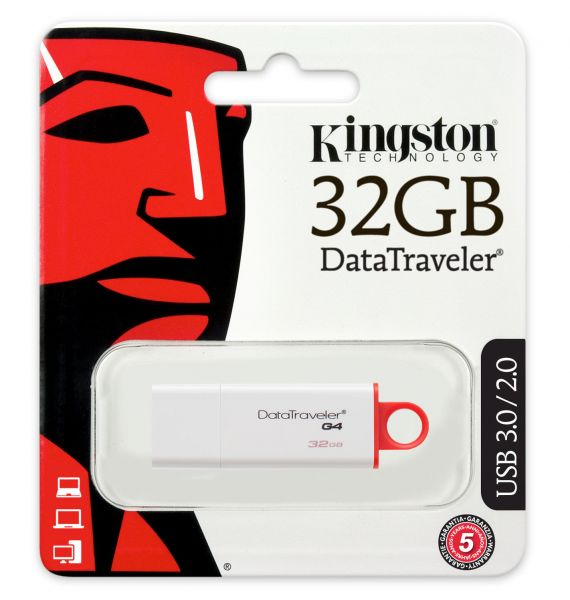 Kingston Datatraveler I G4 Rot 32GB USB 3.0 Flash Stick Speicher Drive