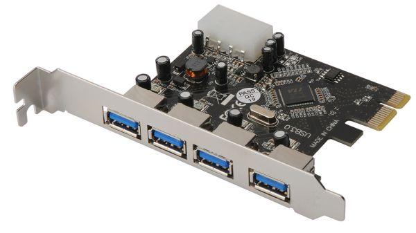 DIGITUS 4 Port USB 3.0-Controllerkarte PCIe Karte PCI Express Superspeed Hub Controller