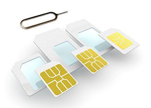Doppelpack AS SIM Adapter Mix-Kit 3er Pack (Micro+Nano) 1x Adapter Nano-SIM auf Mikro-SIM und 1x Ada