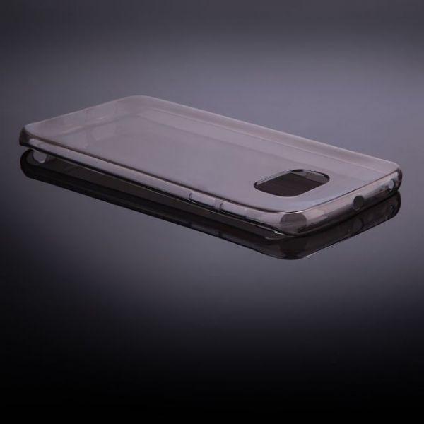 AS Samsung S6 / G9200 Silikon Hülle Schale Cover Tasche Case Handy Schutz TPU - Schwarz