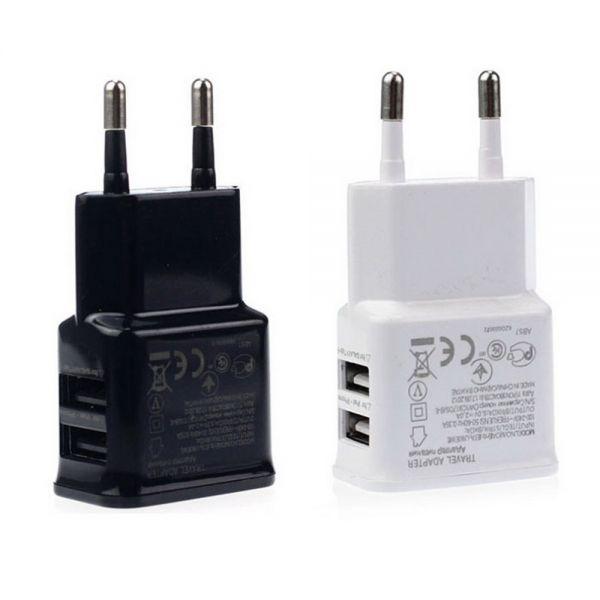 AS 2-USB-Port Netzteil Ladegerät für iPhone, iPod, Samsung Galaxy Tab in weiß oder schwarz