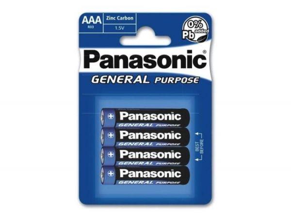 Panasonic Batterie Batterien AA 1,5V R6 Mignon UM3 Zink Carbon