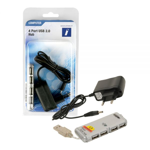 Innovation IT - HUB 4x Port USB 2.0 mit Netzteil