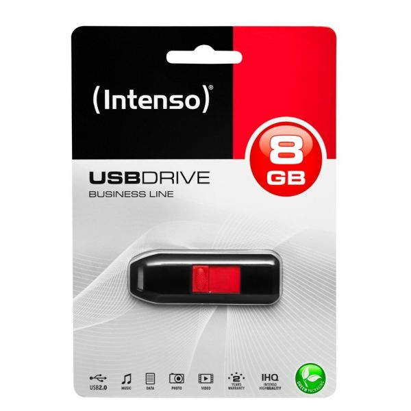 Intenso USB-Drive 2.0 Business Line, USB 2.0 USB Stick 8 GB