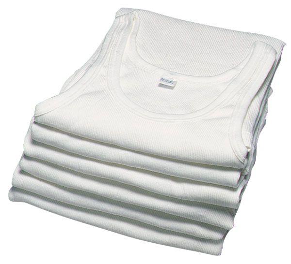 Unterhemden 5er Pack, Farbe weiß, Größe 6