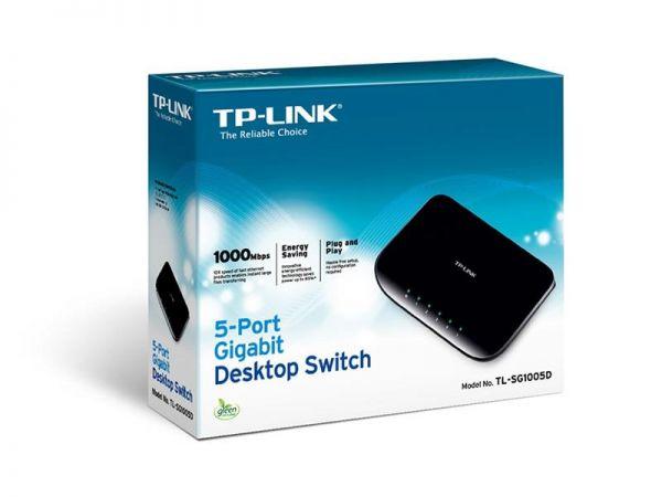 TP-LINK TL-SG1005D Netzwerk Switch RJ45 5 Port 1 GBit/s