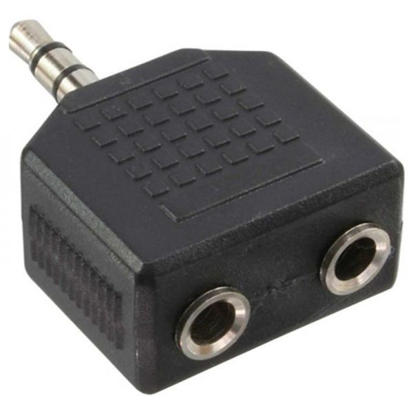 AS Audio Klinke 3,5mm (1x ST - 2x BU) Y Adapter Verteiler